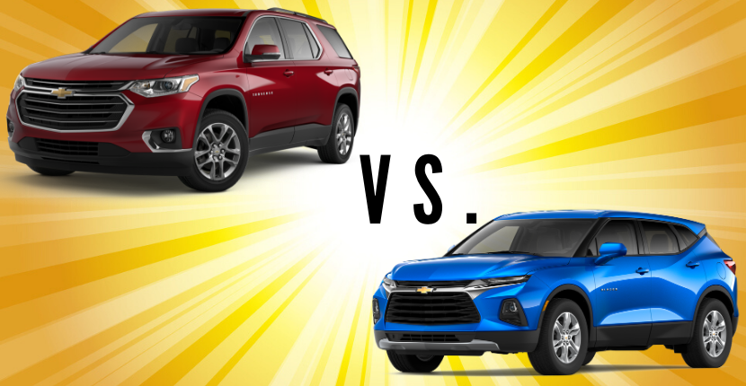 Learn the differences between the Chevy Traverse and the Chevy Blazer.